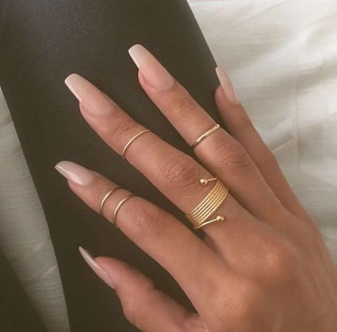 24 Photos of Amazing Coffin Nails | Coffin nails, Make up and Nail inspo