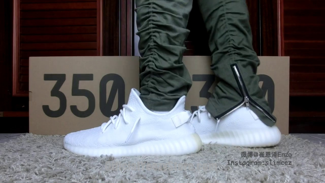 cream yeezys on feet YEEZY BOOST 350 V2 Cream White EARLY BEFORE RELEASE Detail  On-Feet Reviewϸ