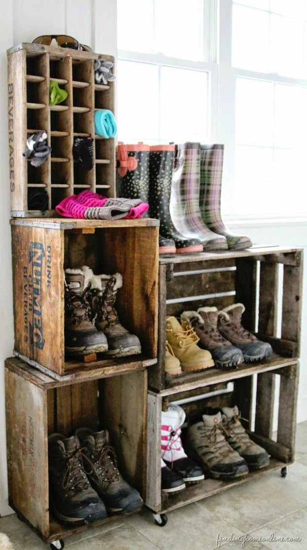 idées pour ranger ses chaussures-3 Entry Organization Pinterest