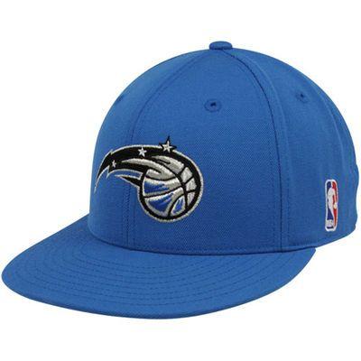 new style ff333 5adca adidas Orlando Magic Royal Blue Basic Logo Flat Brim Fitted Hat
