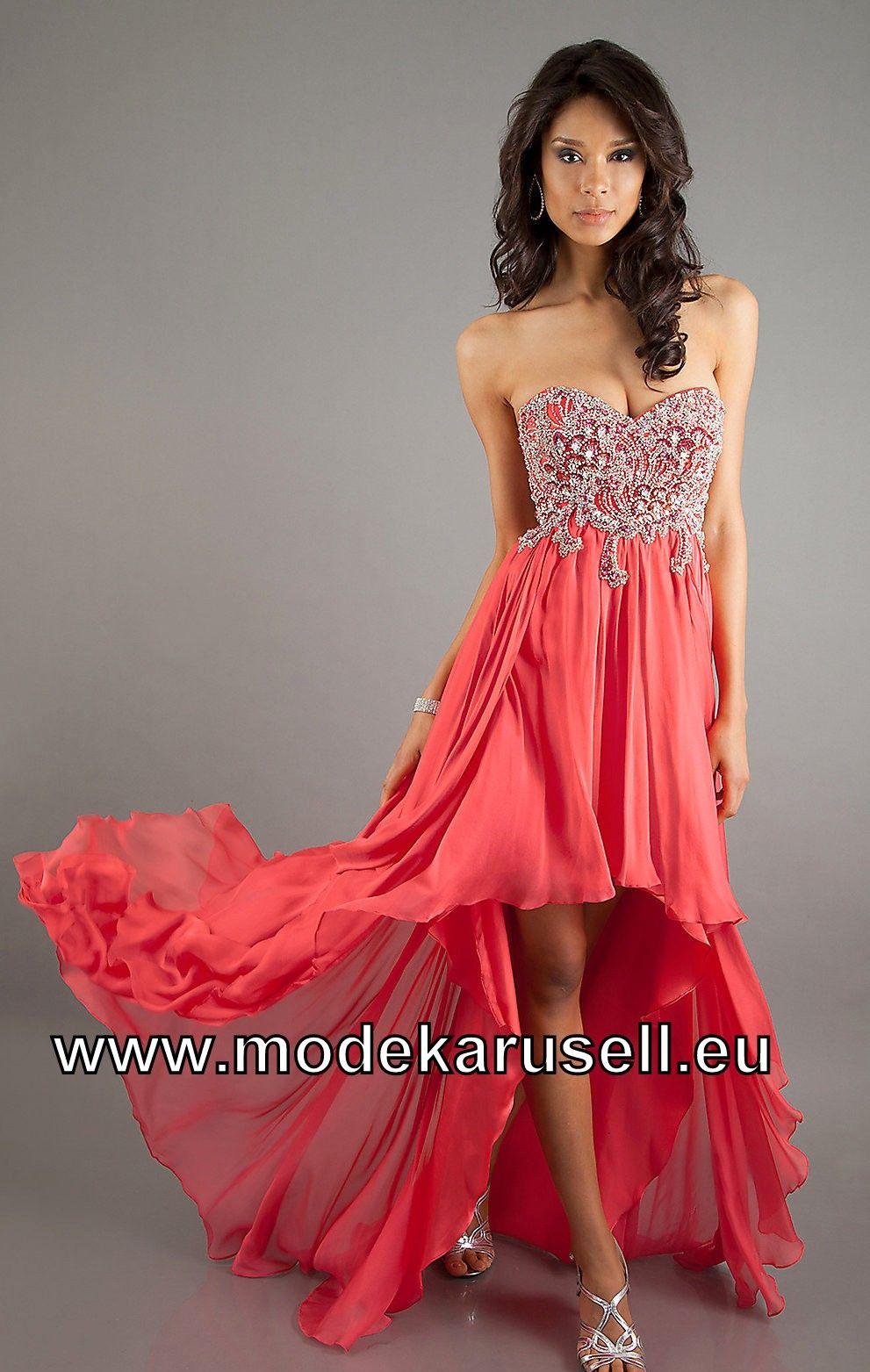 Himmlisches Vokuhilakleid Abendkleid in Erdbeer Rot | Princess ...