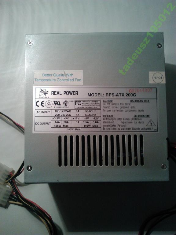 Zasilacz Real Power Rps Atx 200g 3678687500 Oficjalne Archiwum Allegro Atx Power Landline Phone