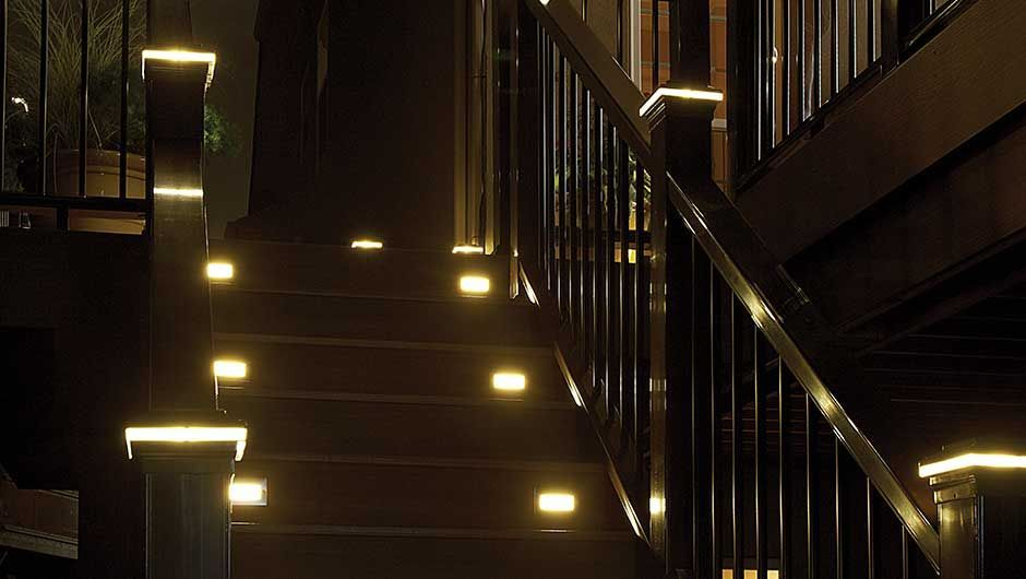 Illuminate your outdoor living space with the ambience of fiberon deck rail lighting aloadofball Image collections