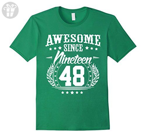 Mens 1948 T Shirt For Men Women 69 Year Old Birthday Gifts Small Kelly Green