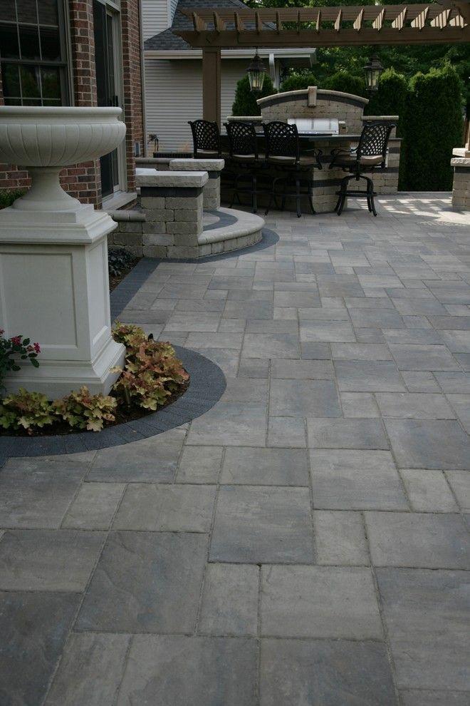 Cement Patio Designs Stained Concrete Floor Designs: Paver Patio Ideas 22