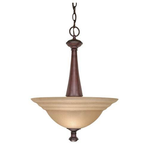 Chain Included: 48 -Amber Water Glass Nuvo Lighting - 60/104 | Nuvo Lighting 60/104 Mericana Bowl Pendant in Old Bronze, Transitional | Bellacor