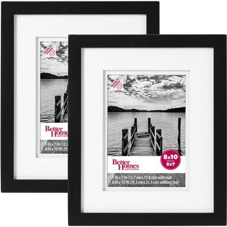 Better Homes Gardens Picture Frame Black Set Of 2 8 X10 Walmart Com Picture Frame Sets Painted Picture Frames Contemporary Picture Frames