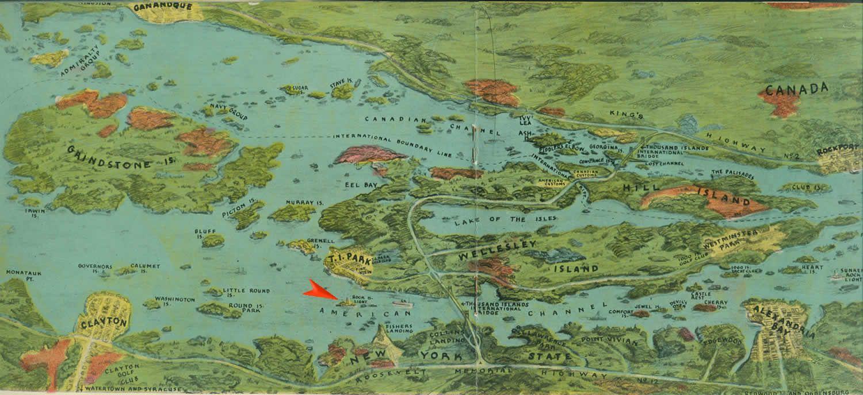Wellesley Island Illustrated Map - wellesley island ...