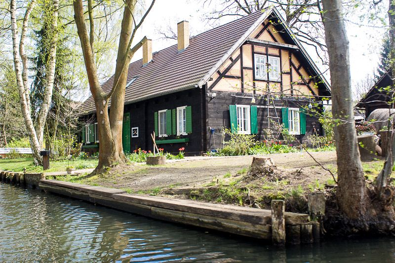 Spreewaldhaus. Spreewald, Wald, Landschaften malen