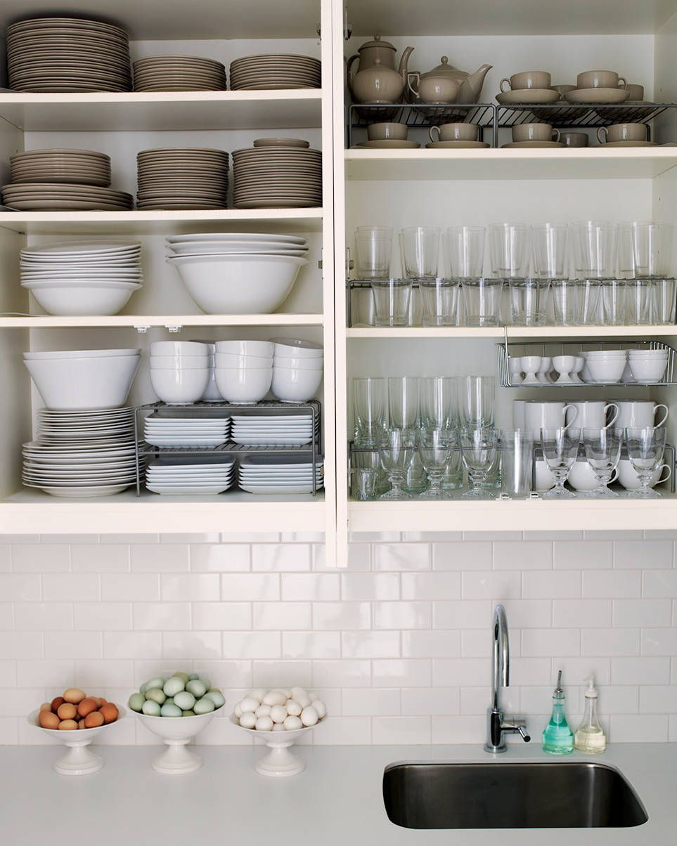 kitchen cabinet organization tips also i know the no doors thing is just to illustrate but i love it for the dishes and glasses - Kitchen Cabinet Organizers Ikea