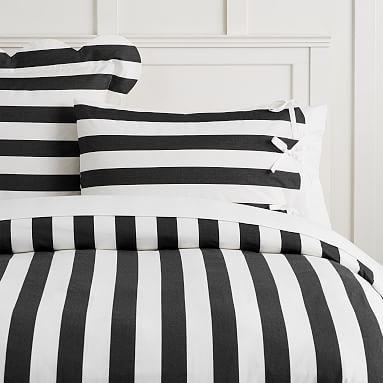 The Emily Amp Meritt Pajama Stripe Duvet Cover Sham