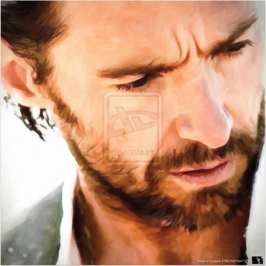 2 Portrait De Hugh Jackman Element OR by NLCARTSUBLIME.deviantart.com on @deviantART