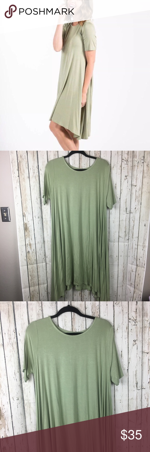 Agnes & Dora Sway Joplin Dress Sage Green Size XL Agnes & and Dora Short Sleeve Sway Joplin Dress in Sage Green Size XL - Extra Large NWT - new with tags Agnes & Dora Dresses Midi #sagegreendress
