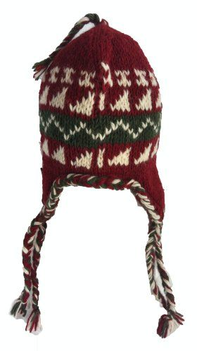 0f0b727d475 Nepal Hand Knit Sherpa Hat with Ear Flaps