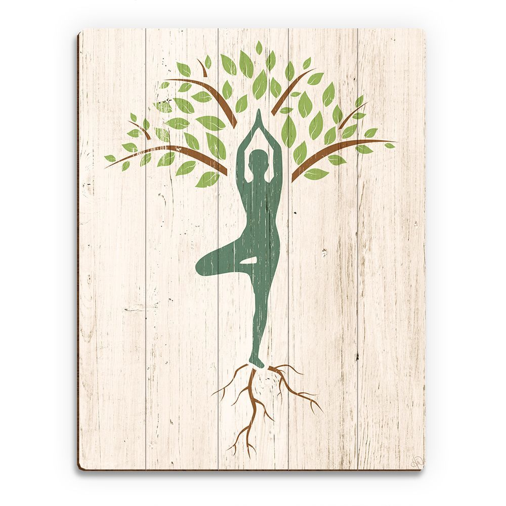 Show off this unique wall art that delights yoga lovers this