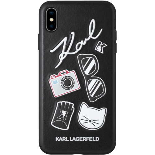 Karl Lagerfeld Pins Case For Apple Iphone Xs Max Black Black Iphone Cases Iphone 6splus Cases Cheap Iphone Cases