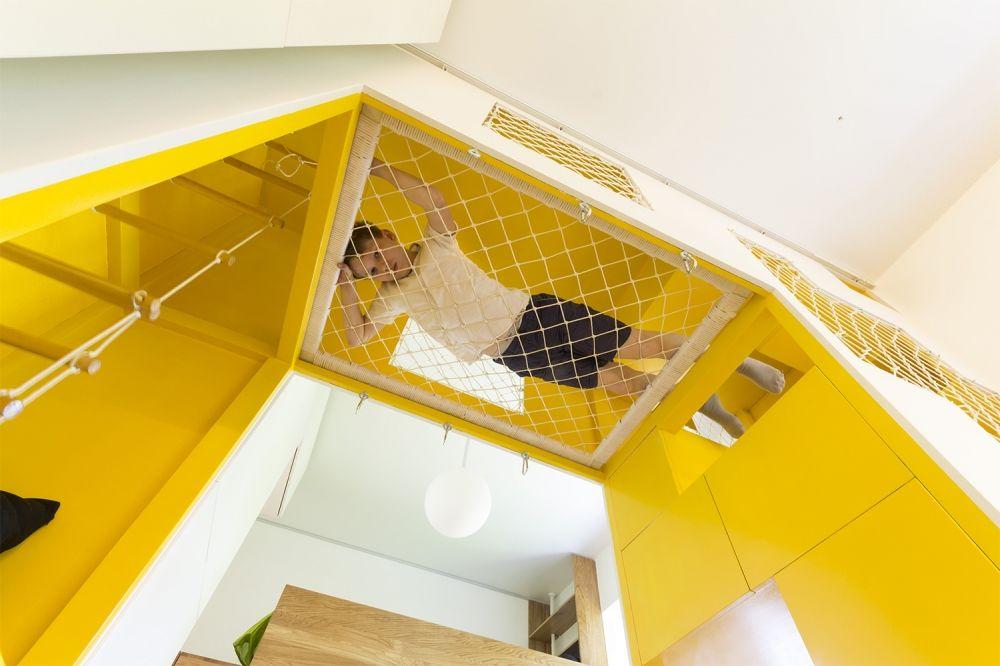 Kis családi lakás moduláris és változtatható, bámulatosan ...