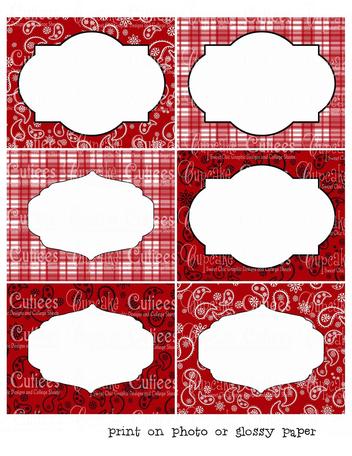 Howdy Birthday Cowboy Or Cowgirl Digital Collage Large Labels Printable 3 50 Via Etsy