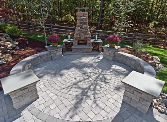 Patio Design Ideas With Pavers Patio Design Idea With Decorative