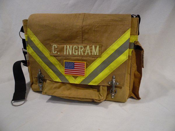 Firefighter Bunker Gear Laptop Bag Ems And Turnout Recycled Bags