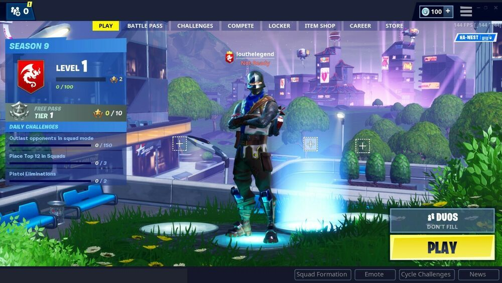 Fortnite account with season 2 item & first twitch prime