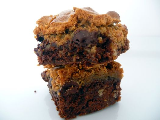 Chocolate Chip cookie-topped brownies recipe
