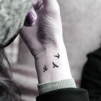 Image Result For Three Little Birds Bob Marley Tattoo Bird Shoulder Tattoos Bird Tattoo Wrist Tattoo Designs Wrist