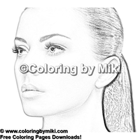 beautiful woman portrait coloring page #1843 | ultimate coloring