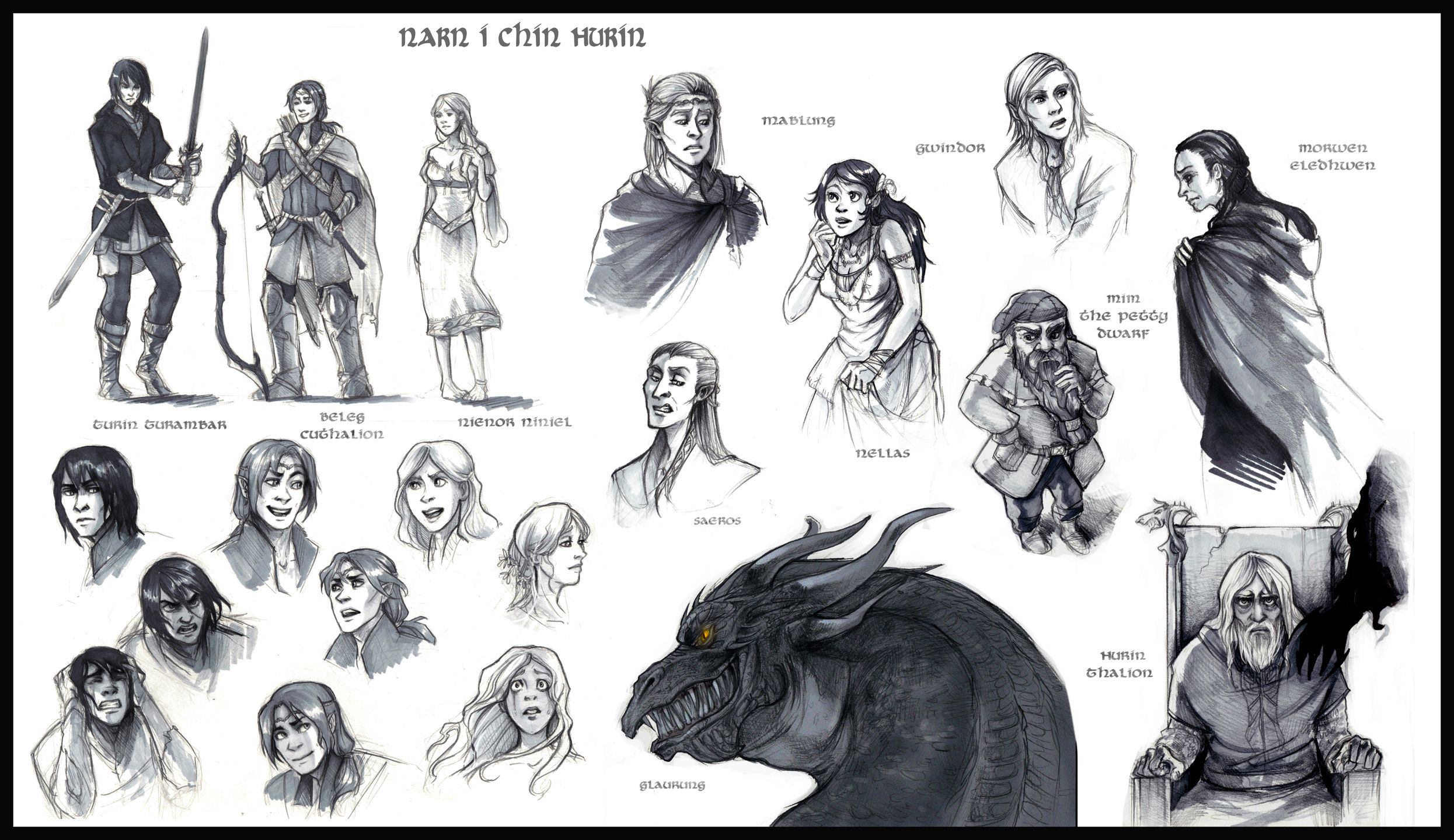 Narn i Chin Hurin Characters by elontirien Character