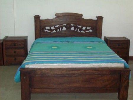 Camas en madera rustica buscar con google dormitorios for Camas matrimoniales en madera