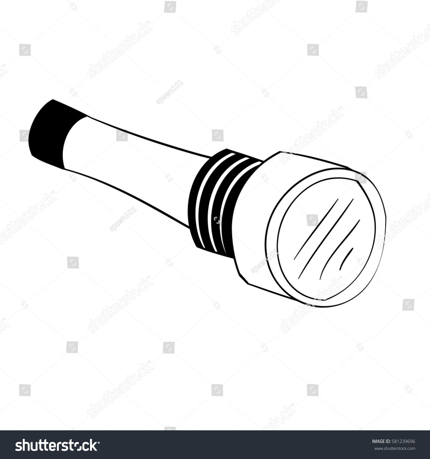 Illustration Of Isolated Black And White Cartoon Torch Light Vector Eps 8 N Ad Affiliate White Cartoon Black In 2020 Black And White Cartoon Art Design Vector