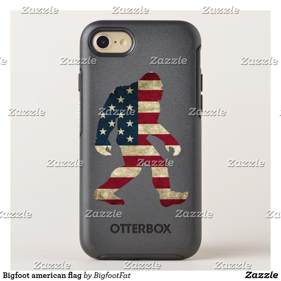 Bigfoot american flag OtterBox iPhone case | Zazzle.com – Phone Cases