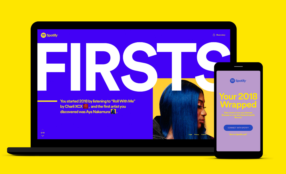 Spotify 2018 Wrapped On Behance In 2020 Spotify Advertising Awards Top Artists