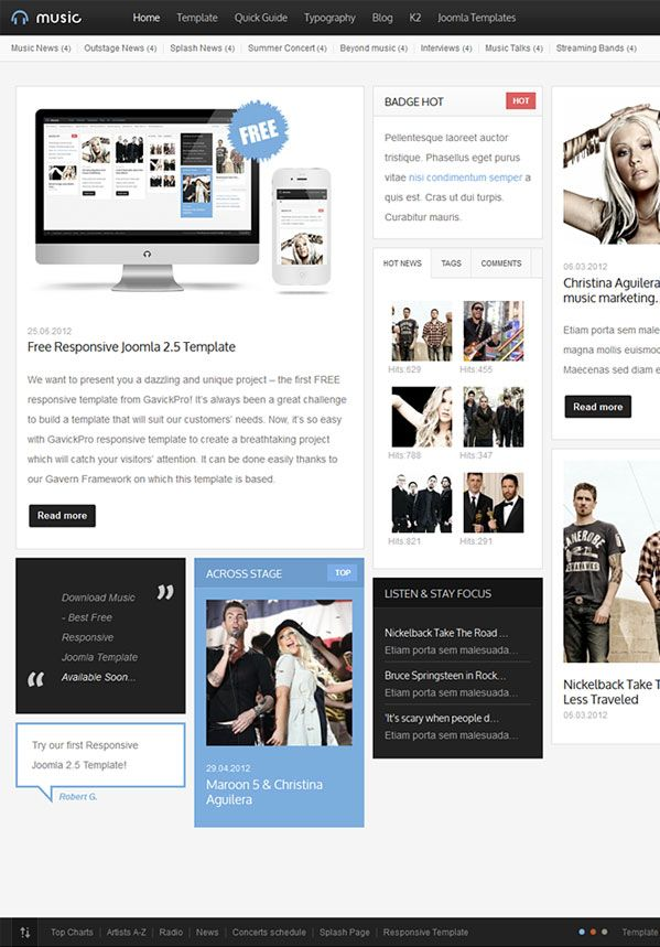 Music - Free Responsive Joomla Template | Joomla Templates