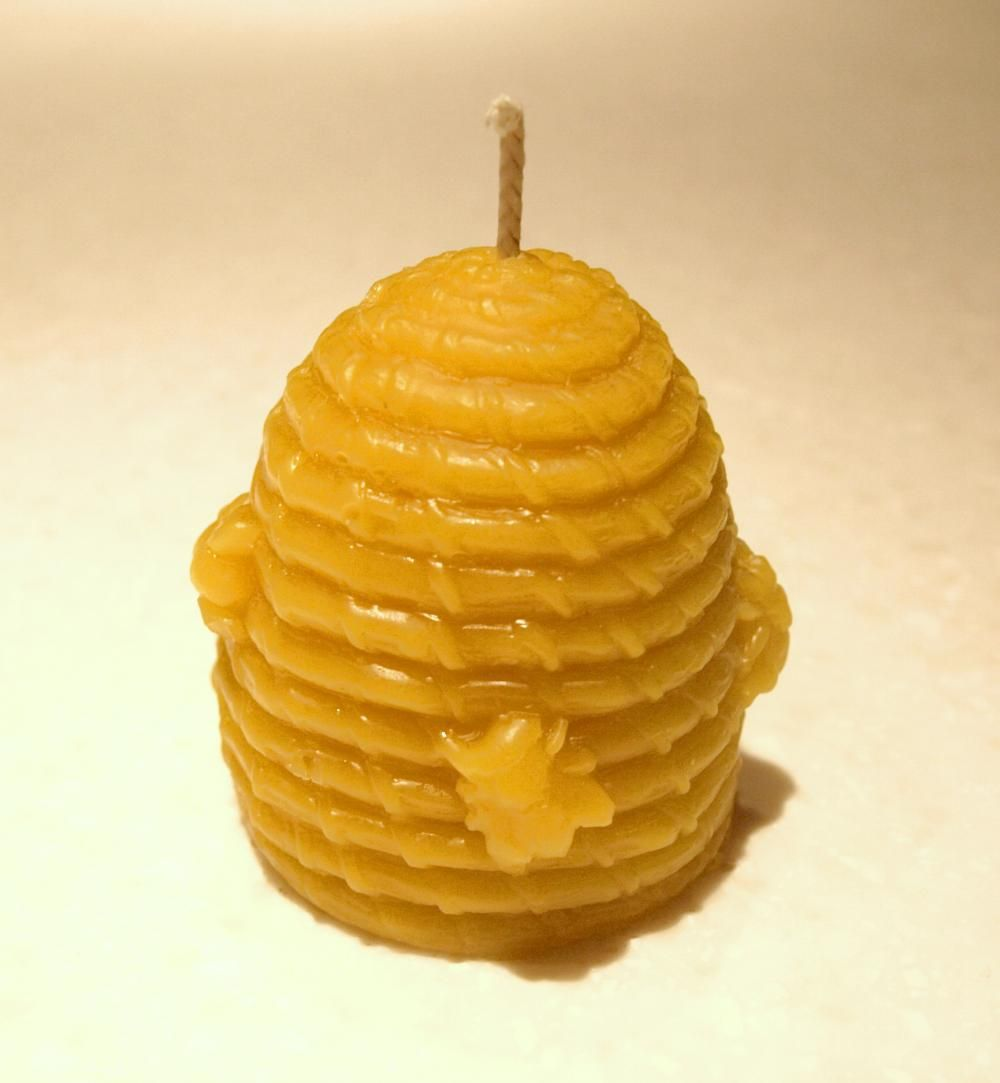 Old Skep Beeswax Candle Mold
