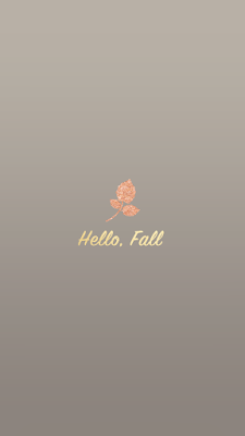 Hello, Fall. Rose gold leaf iPhone 6s wallpaper