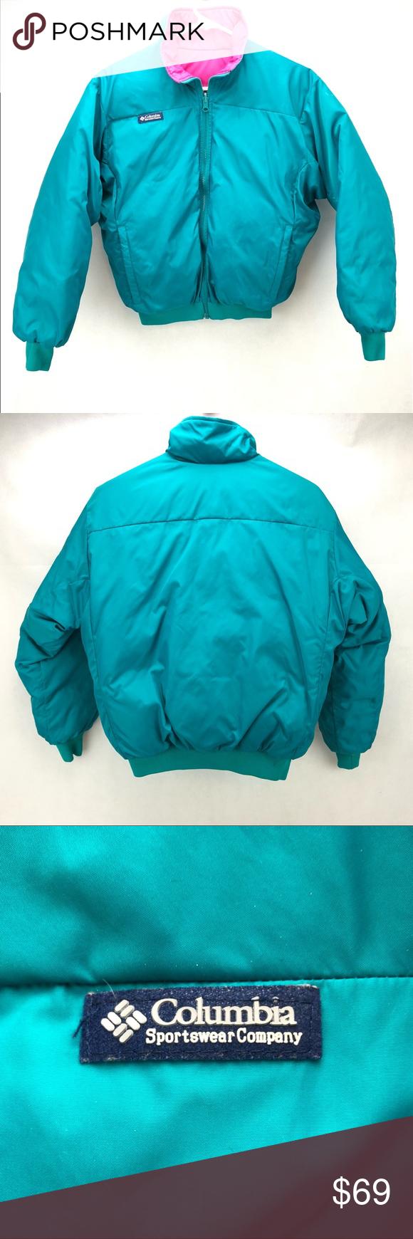 Vintage Columbia Reversible Winter Jacket Coat | Clothes
