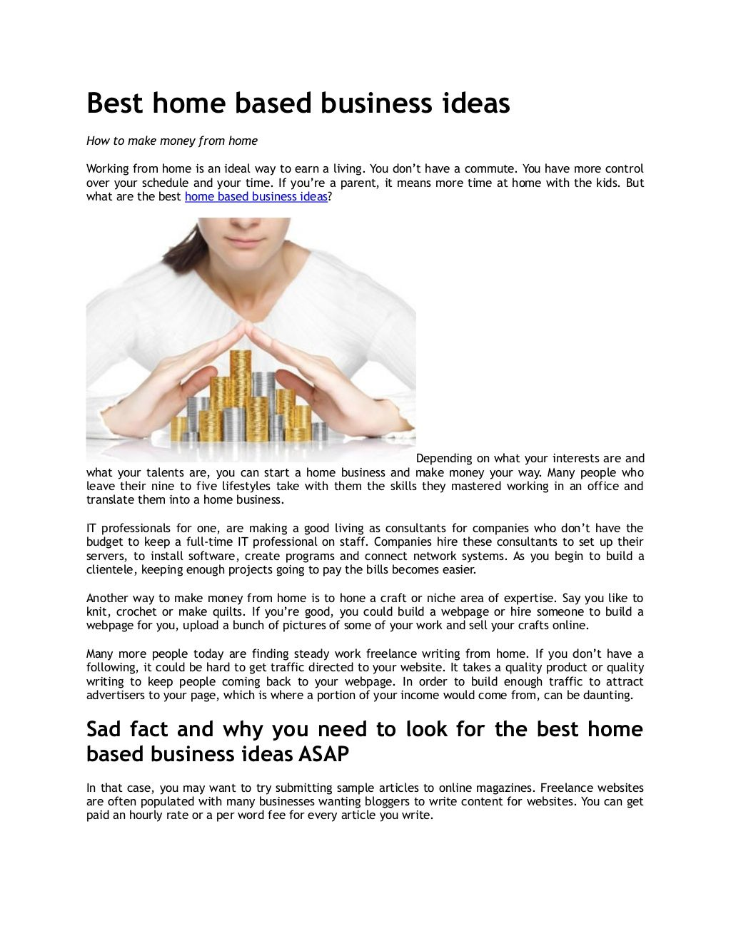 Interesting Things: Interesting Things: Home Based Business News ...