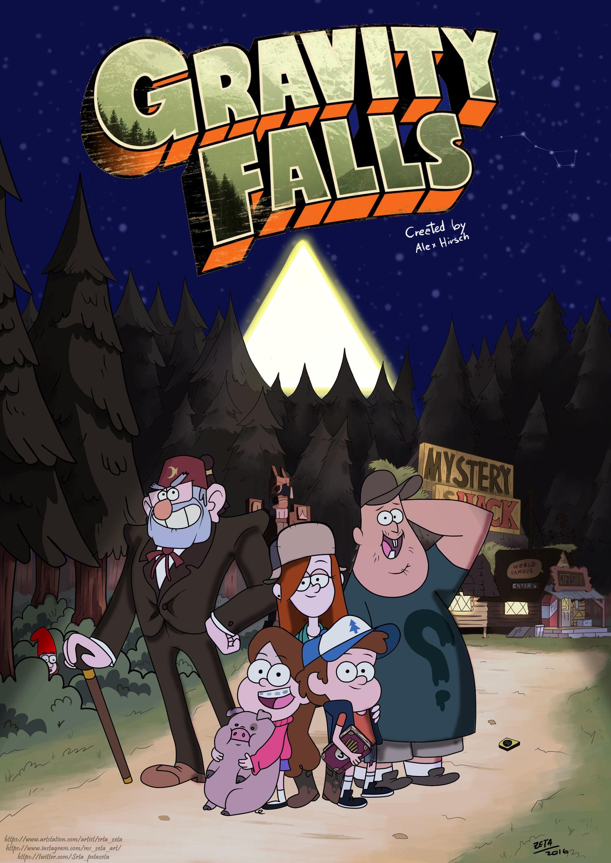 Gravity Falls Fan Art Wallpaper Artstation Gravity Falls Poster Irati Pardo Gravity