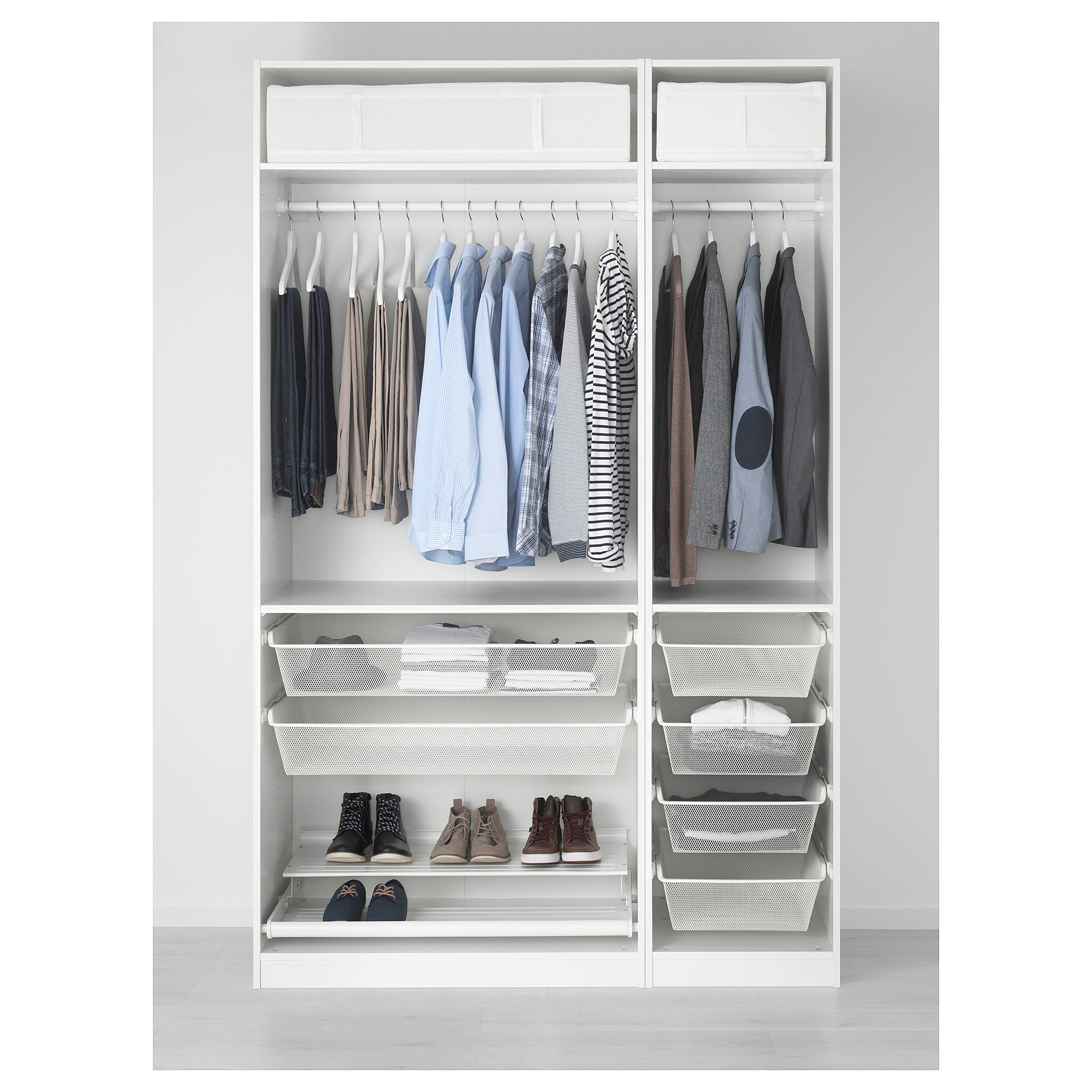 PAX Wardrobe White, Fardal High-gloss/white