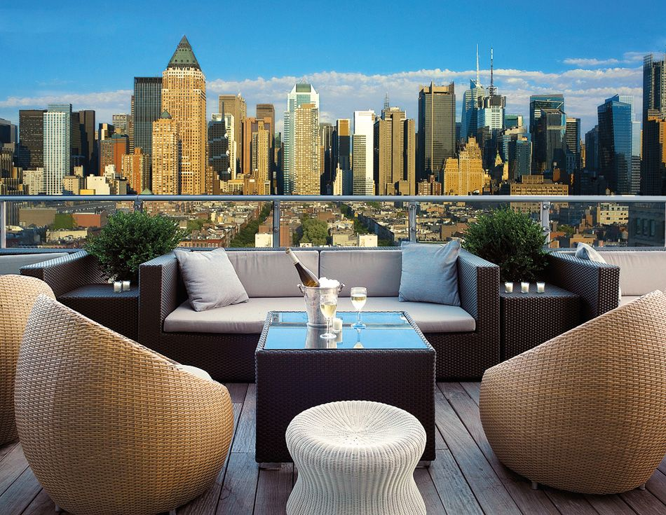 Rooftop Bars Press Lounge At Ink48 Nyc Designer Rockwell
