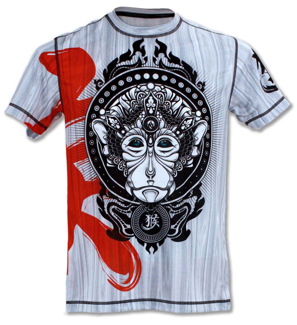 Men S Monkey Tech Shirt Crossfit Clothes Running Shirts Shirts