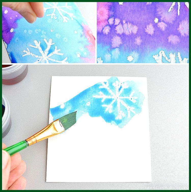 Magisches Salz Und Aquarell Schneeflocke Kunstprojekt Fur Kinder