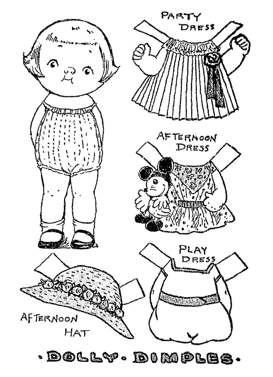 Mostly Paper Dolls Too Dolly Dimples And Comfy Comic