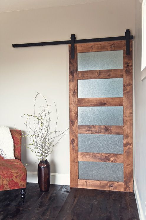 The Glass Panel Sliding Barn Door Is The Ultimate Addition To Any Home.  Unique,
