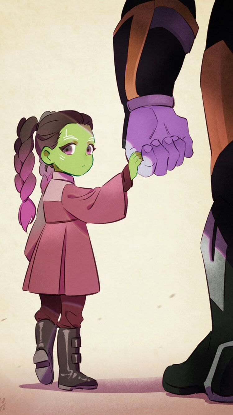 Gamora And Thanos Wallpaper