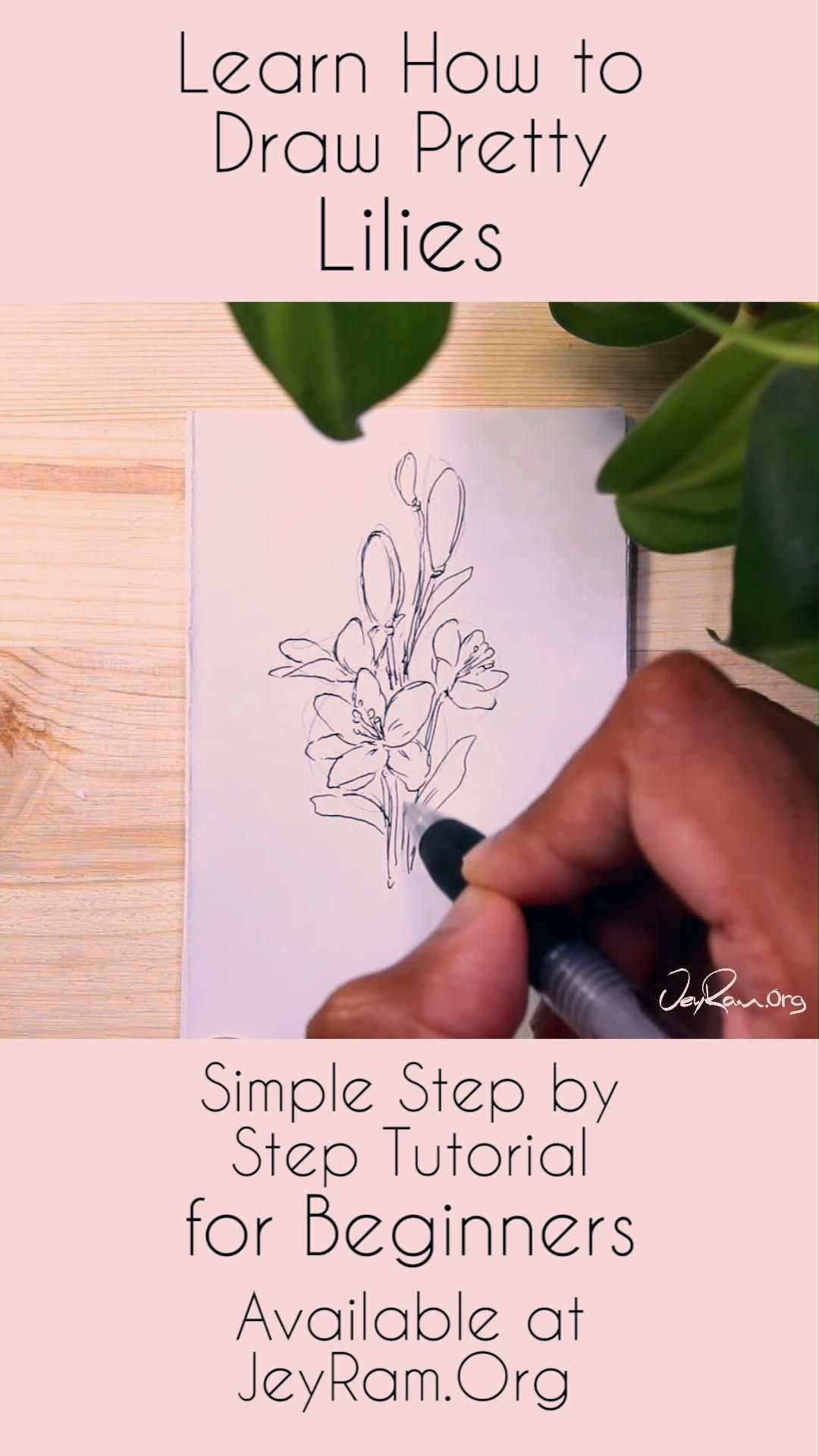 Hey! I'm on a mission to share my joy for drawing with people that have never drawn before. I have created these step by step flower drawing tutorials for beginners to help people get started :D Help me on this mission by sharing the post with someone who you think would want to try it! Floral drawings are great for bullet journals and homemade cards. People just love receiving a hand-drawn card that has beautiful flowers on them. Let's draw some flowers together ♡ #youtube #tutorial #flower