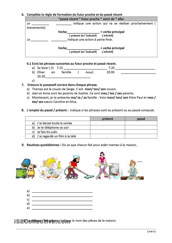 test de francais niveau a1 pdf