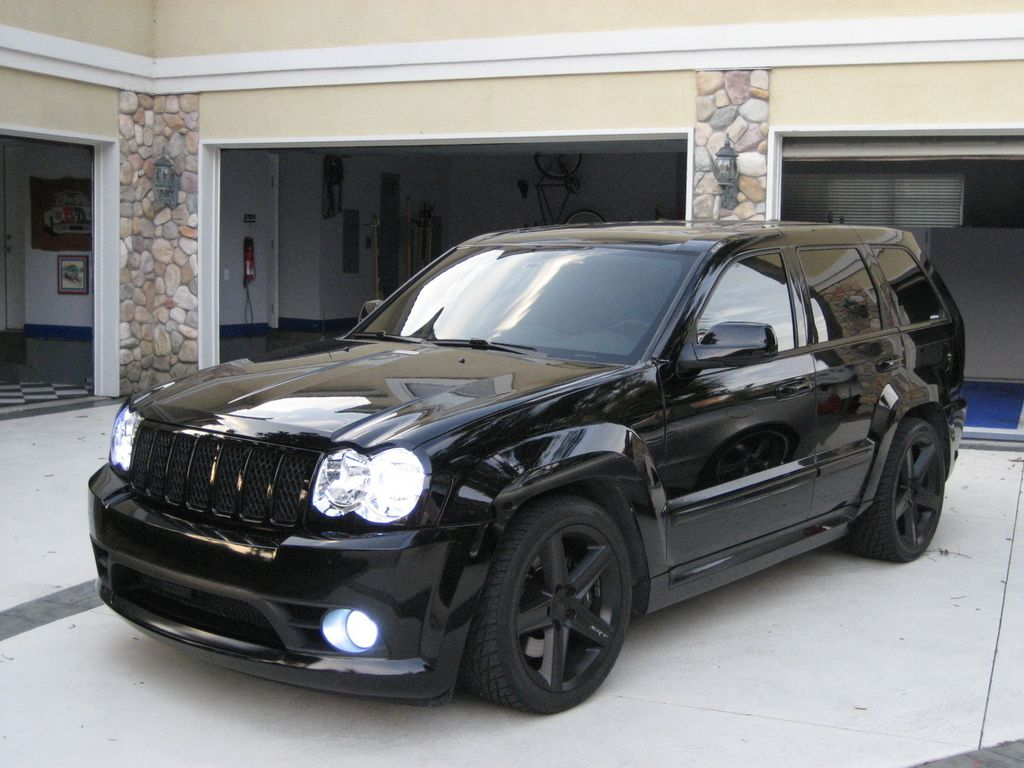 all blacked out jeep srt8 with hids | cars | pinterest | jeep
