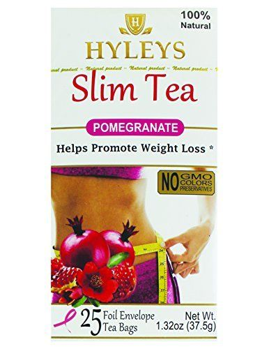 Hyleys Tea Slim Tea Pomegranate 25 Tea Bags 1 Pack Learn More